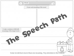 Draw the definitions and write a sentence to show context