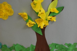 Finished product of a Spring Tree