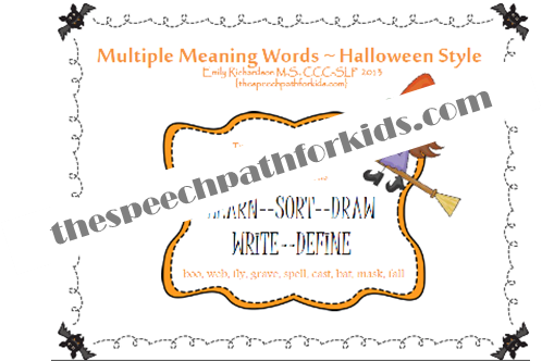 Multiple Meaning Words: Halloween Style