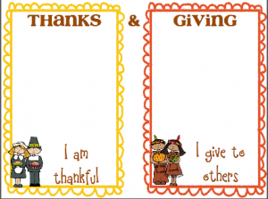 Thanks & Giving... a great tool to share ways that we GIVE to others and things we can give THANKS for