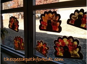 I'm thankful for how much these colorful turkeys brighten up my day!