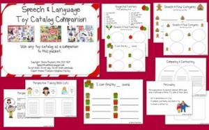 Christmas Toy Catalog Companion by Speech Room News