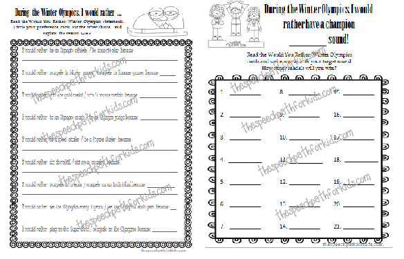 Templates for carryover and home practice