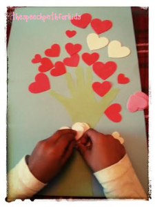 Making a heart tree