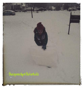 She was determined to roll this all the way home!
