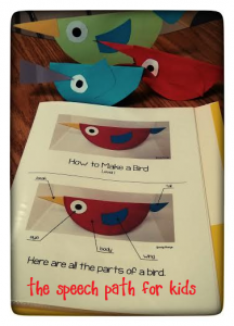 Adapted Bird Craftivity from Speechy Musings