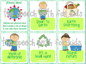 There are 11 Earth-themed idioms in this set