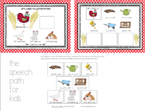 An example of a story board used for choice making
