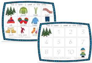An example of the sequence boards.  They can be used with velcro or as a cut/paste activity.