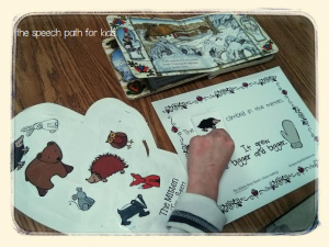 mitten story board and craft