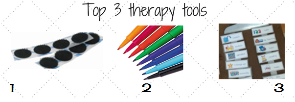 1- If you are still cutting your velcro strips STOP now! Buy the velcro dots and CHANGE your world!! 2- I still prefer a paper calendar and these flair pens help me to color code. Plus - they are so much more fun to use on my data sheets than blah black ballpoint! 3- On a clipboard, on my lanyard, on my name tag, all over my walls - visual cues are my lifeline!