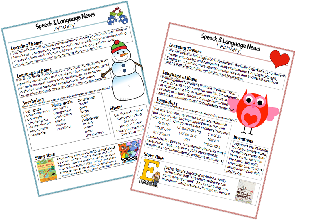 I used the templates from Speechy Musings and added content specific to each set of groups.
